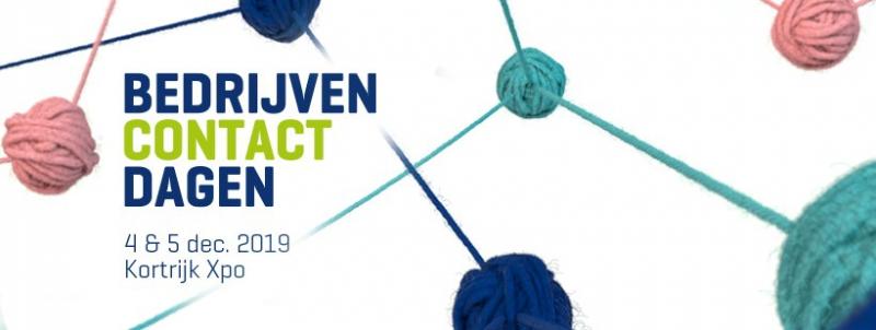 Uitnodiging bedrijvencontactdagen op 4 en 5 december in KortrijkXpo